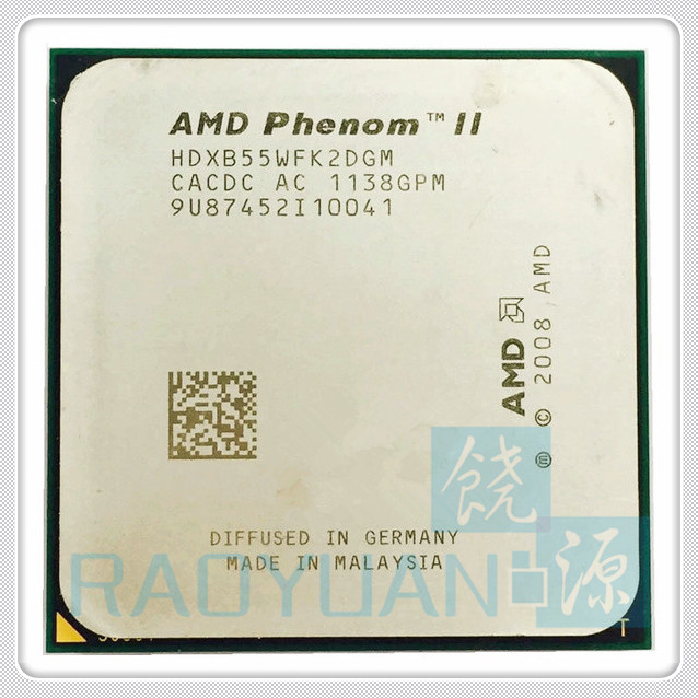 AMD Phenom II X2 B55 3.0GHz Dual-Core CPU Processor HDXB55WFK2DGM 80W Socket AM3 938pin