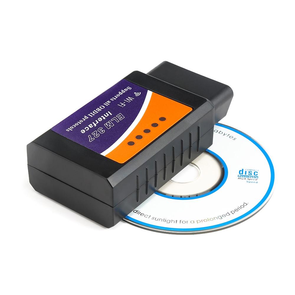 Vehicle Diagnostic Scanner WIFI OBD2 OBDII Code Reader V03HW Inspection Instrument V1.5 PIC18F25K80 Chip WIFI For Android / IOS