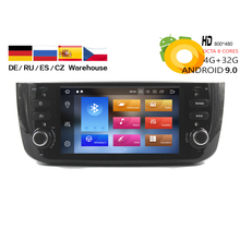 HIRIOT Car Android 9.0 DVD GPS Player For Fiat Grande Punto 2012 2013 2014 Linea Radio BT Octa Core WIFI MAP 4GB+32GB DAB+