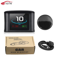 P10 Automobile Trip On board Computer Car Digital OBD2 Hud Mileage OBD Driving Computer Display Speedometer Temperature Gauge
