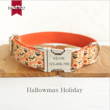 Hallowmas Holiday Personalized Dog Collar Free Engraved Name And Tel Adjustable Puppy Collar Custom Pet Collar For Dog And Cat