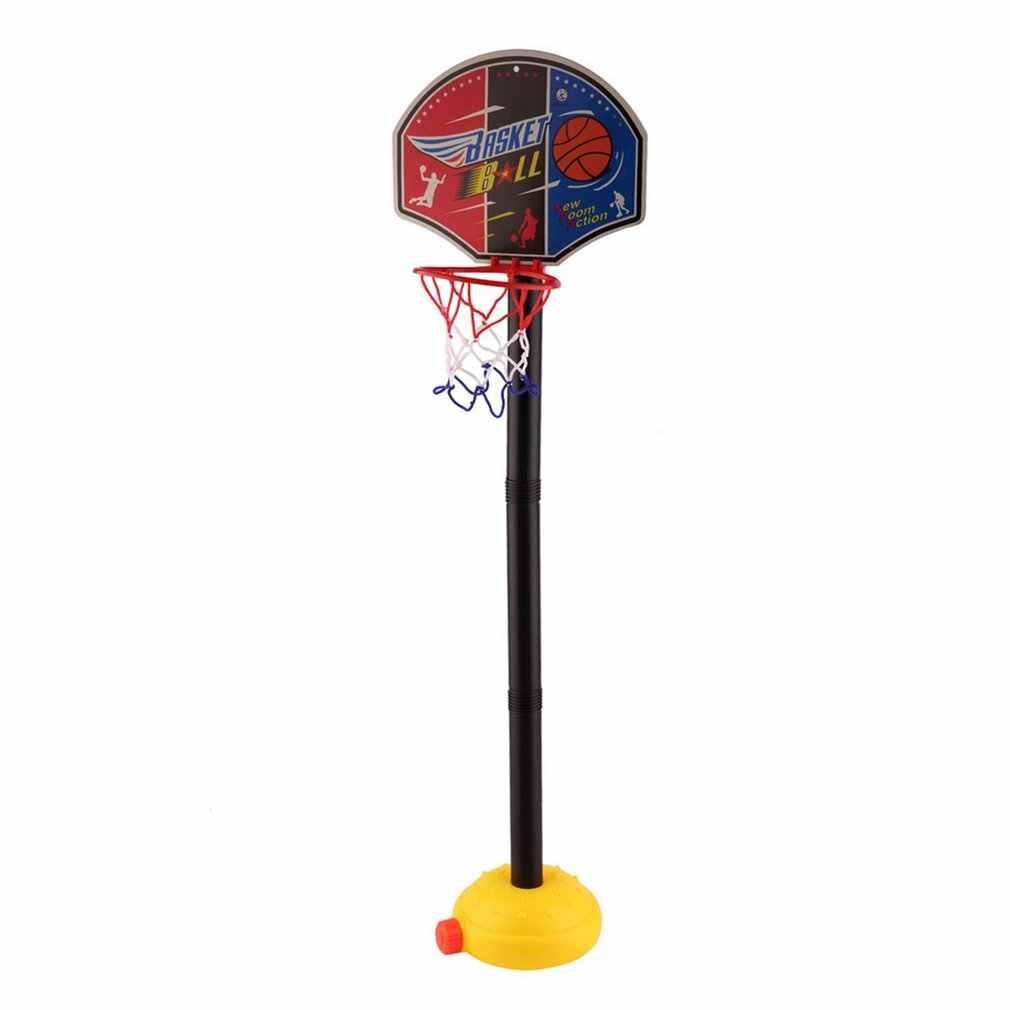 Kids Sport Draagbare Basketbal Speelgoed Set Stand Bal Met Opblaasbare Pomp Peuter Baby Adjujstable Jongens Outdoor Miniatuur Sport