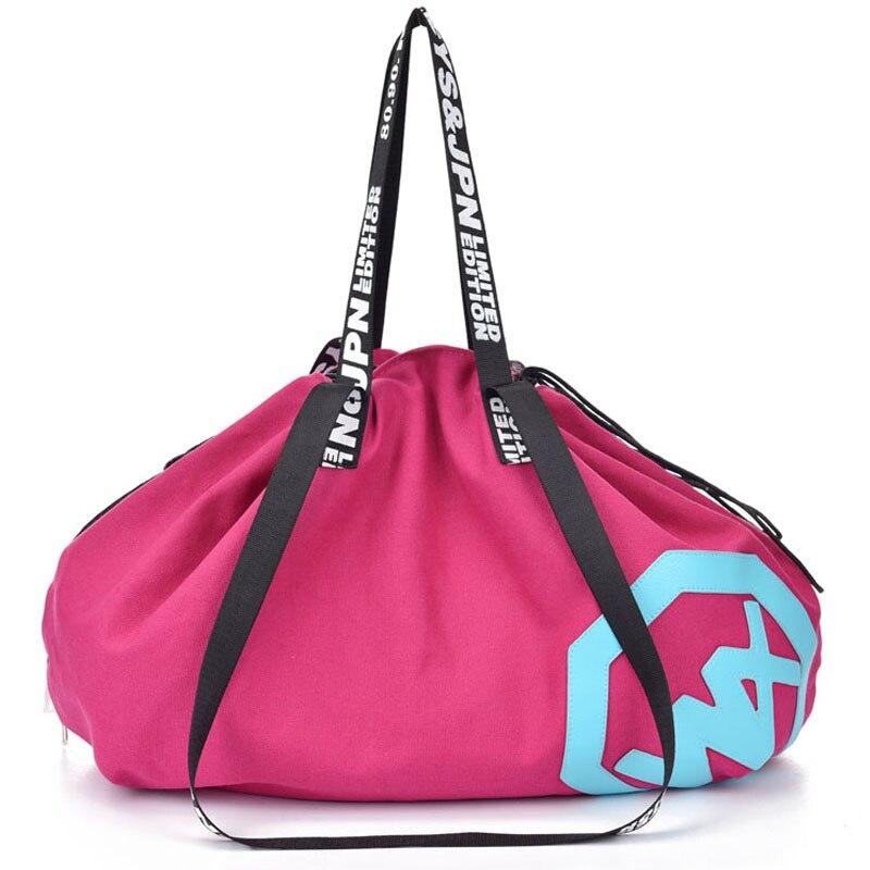 Большие Ёмкость сумка Открытый Сумки Путешествия холст спортивную сумку Йога Коврики drawstring сумка Спортивные сумки спортивные Для женщин Фитнес сумка
