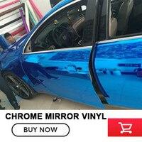 Alta Calidad azul del Coche Del Vinilo Del Cromo Cromo Adhesivo película Para El Estilo de Auto Completo Car Body Wrap 20 m/rollo real imagen