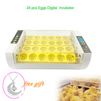 24 Automatic Egg Incubator Digital Clear Egg Turning Temperature Control Farm Hatchery Machine Chicken Egg Hatcher Brooder