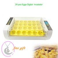 Farm Automatic Chicken Egg Incubator Hatchery Equipment incubator 24 eggs Machine Hatchers Temperature Control Quail Brooder