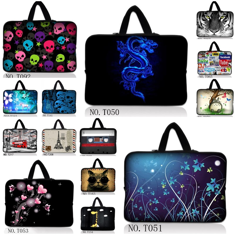 Laptop Sleeve Bag 13 14 15 15.6 inch Soft Sleeve Handlebag Laptop Case Bags for women MacBook Pro Air Notebook gift ipad 4