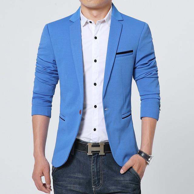 FGKKS New Arrival Luxury Men Blazer New Spring Fashion Brand Slim Fit Men Suit Terno Masculino Blazers Men 3