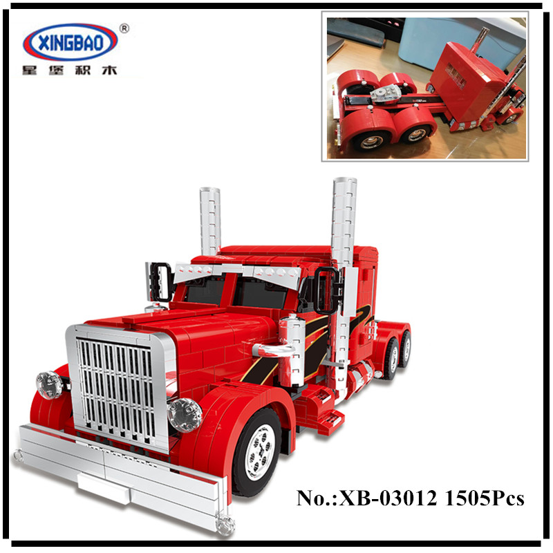 IN STOCK XingBao 03012 1505Pcs  Technic MOC Series The Red Monster Set Children Educational Building Blocks Bricks Toys Model in stock new xingbao 01101 the creative moc chinese architecture series children educational building blocks bricks toys model