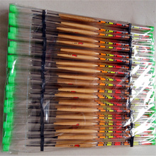 10Pcs/lot 1.6g Fishing Floats Paulownia Wood Fishing Tackle Tool Fish Wooden Floats Suit For Different Fishing Environment