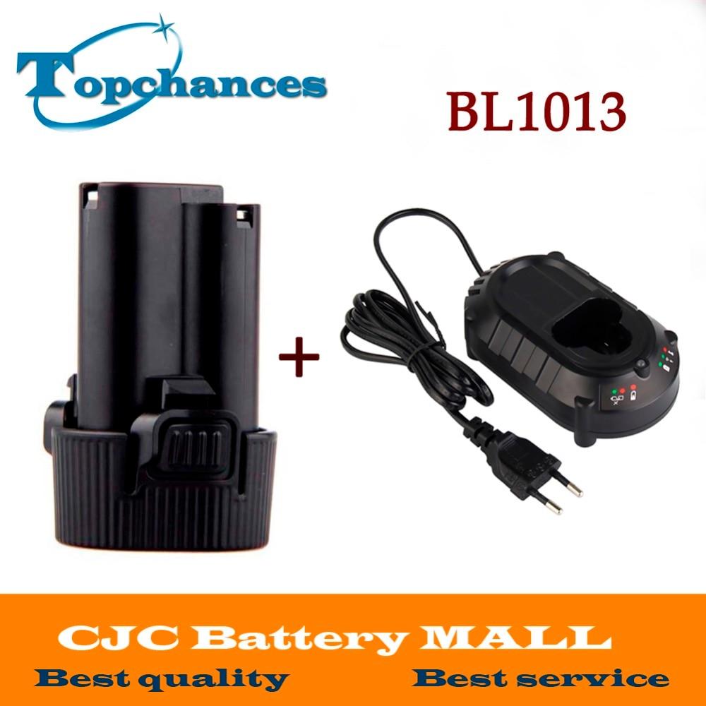 Batterie pour Makita 10.8 V 10.8 Volts BL1013 BL1014 TD090D TD090DW LCT203W 194550-6 194551-4Li-ion Électrique Power Tool + chargeur