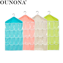 16 Pockets Over Door Hanging Storage Bag Case Organizer Wall Door Hanger Closet Underwear Socks Bra Storage Organizer