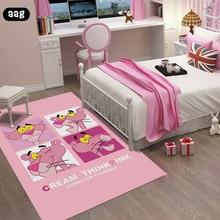 AAG Pink Cartoon Crown Living Room Carpet Rectangle simple coffee table bedroom bedside bed rug Childrenroom princess mat