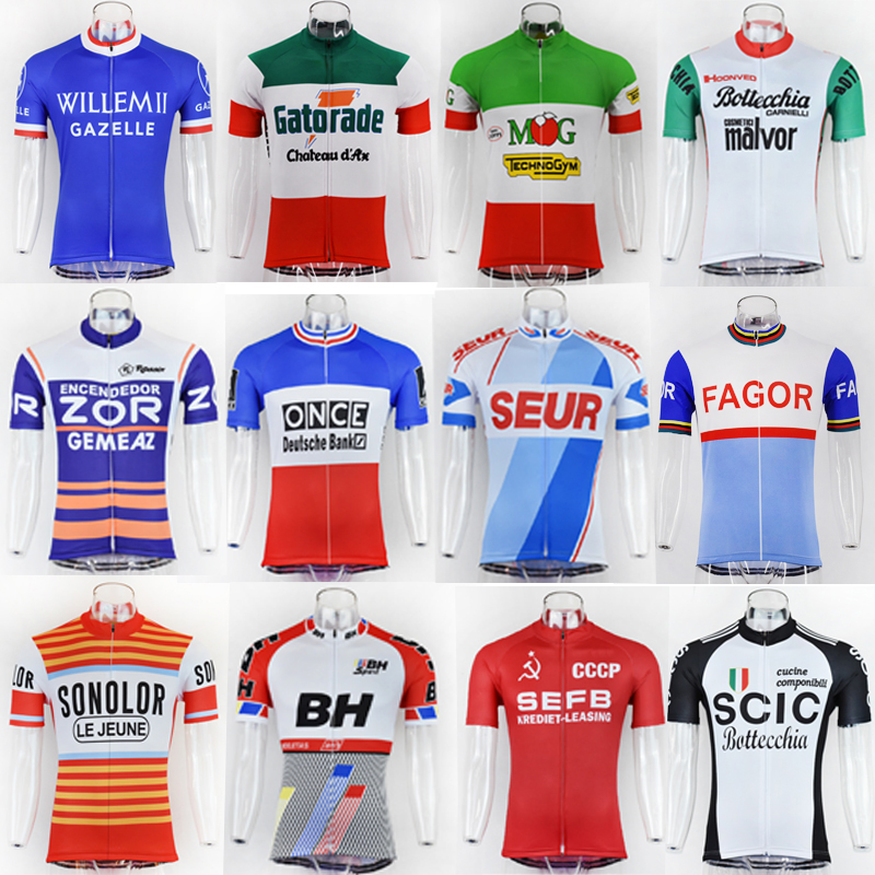 NEW Men's Summer Cycling Jersey Classic Retro Style Collection Cycling Clothing Top Shirt Bike Wear Maillot Ciclismo