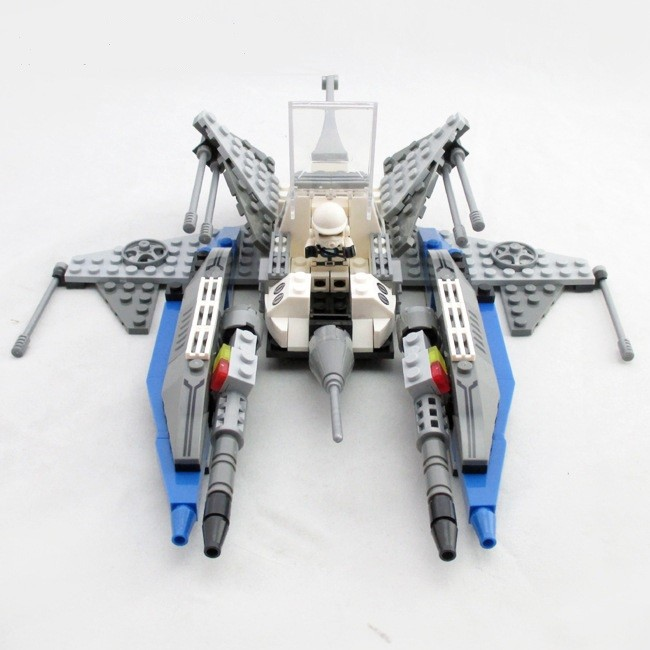Legoe Compatible Ausini Star War Clone Warships Space Wars DIY Children Construction Enlighten Spaceship Building Blocks Bricks legoe compatible enlighten bricks space shuttle space war diy educational toys for children gifts building blocks diy kit 593pcs