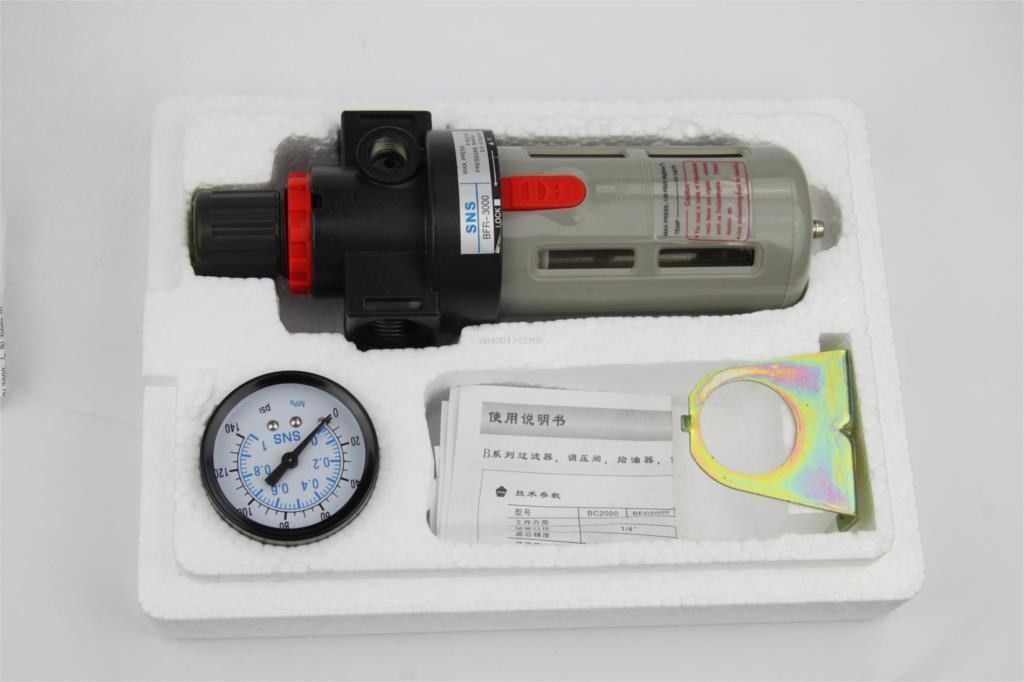<font><b>BFR3000</b></font> 3/8'' PT Airtac regulator filter filter SNS pneumatic water separator regulator image