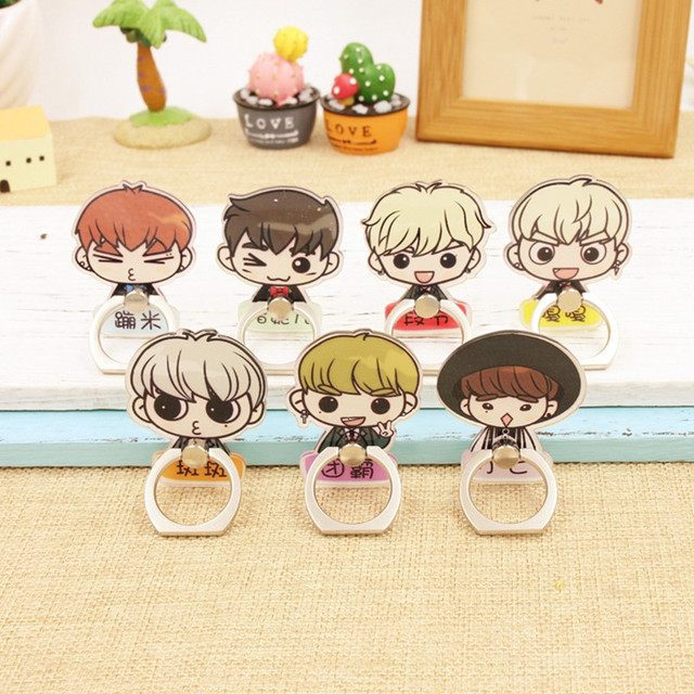 Kpop Got7 Jackson Mark Jb Bambam Junior YuGyeo Album Fly K-POP Case 360 Ring Degree Finger Stand Holder ZHK