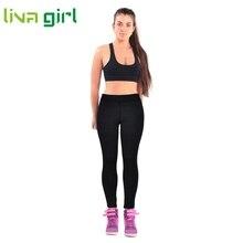 Liva girl High Waist Fitness Yoga Sport Pants Stretch Ankle Length Pants Leggings Feb08