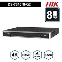 Оригинальный Hik английский 16 канальный видеонаблюдения Система протокола ONVIF 16CH NVR DS 7616NI Q2 для безопасности Камера 2 SATA разъем HDMI VGA встроенны
