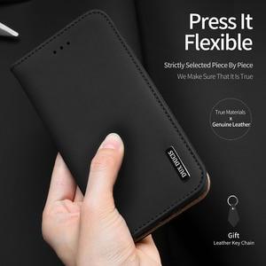 Image 2 - DUX DUCIS אמיתי עור ארנק מקרה עבור iPhone 8 7 Xs בציר מגנטי Flip כיסוי עבור iPhone Xs Max XR X 7 8 6s 6 בתוספת Coque
