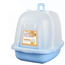 Cat Potty Toilet Training Kit Box Litter Scoop Sand Box House Restroom Bedpan Toilet-For-Cat Cat Toilet For Cats Litter DDM2426(China)