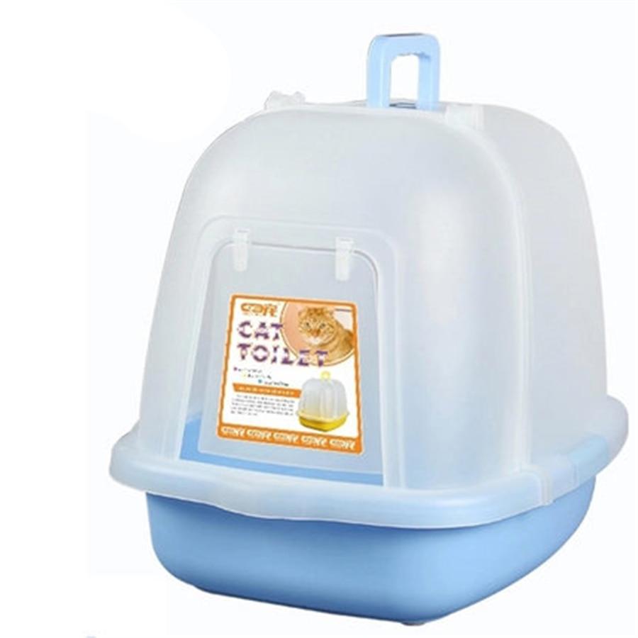 Cat Potty Toilet Training Kit Box Litter Scoop Sand Box House Restroom Bedpan Toilet-For-Cat Cat Toilet For Cats Litter DDM2426