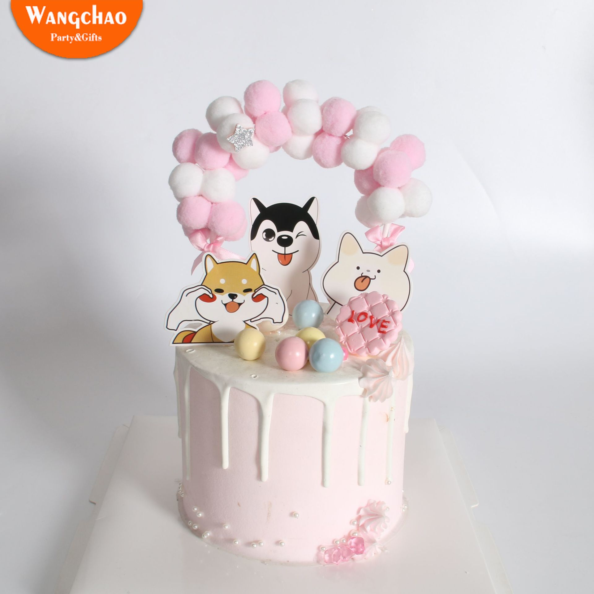 10pcs Cute Pets Birthday Cake Decoration Dogs Theme Cupcake Topper Happy Birthday Party Favors Supplies for Pets in Cake Decorating Supplies from Home Garden