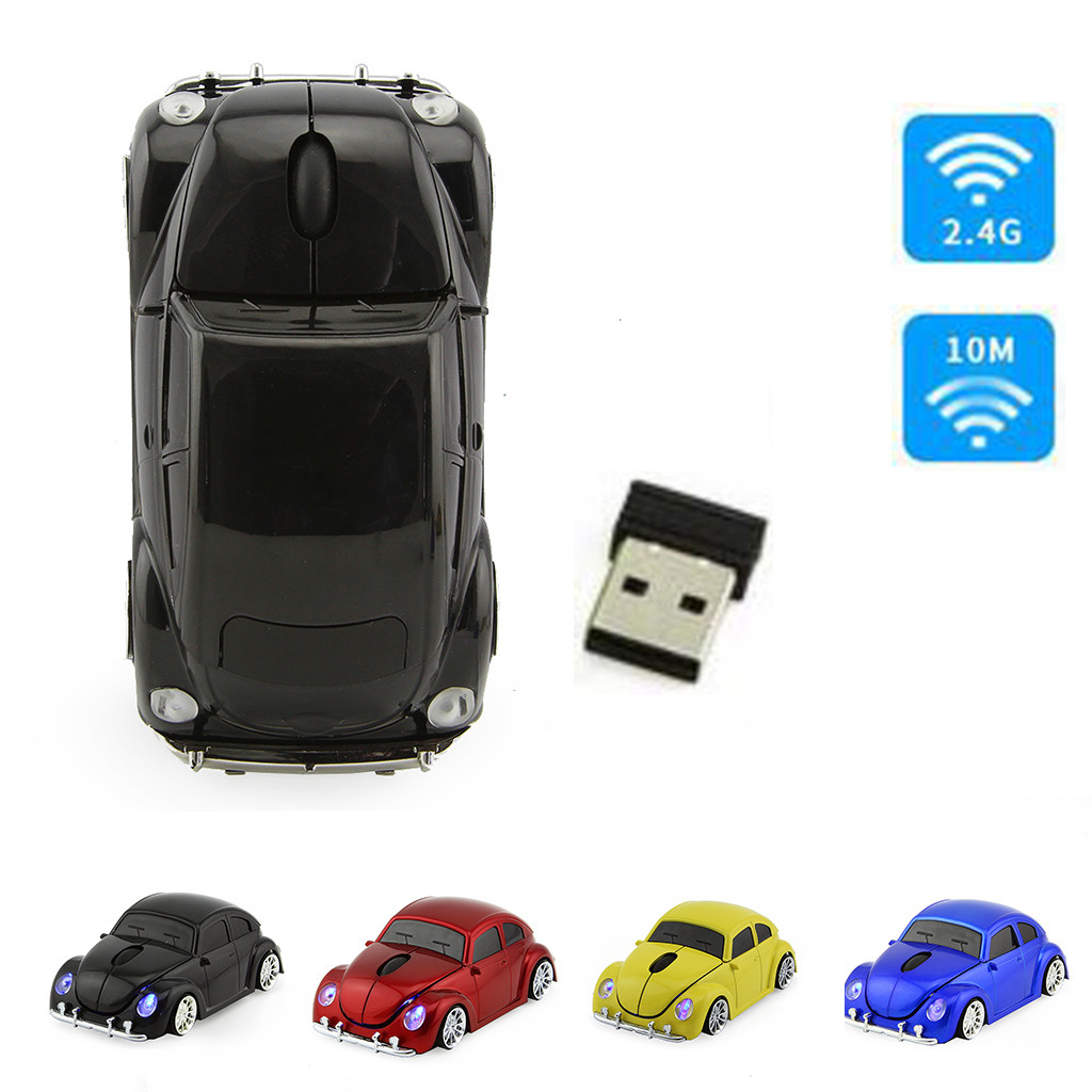 Wireless 2.4gmouse Cool Car Beetle Shape Gaming Mice With USB Receiver Mini Cordless Optical Computer Laptop Notebook