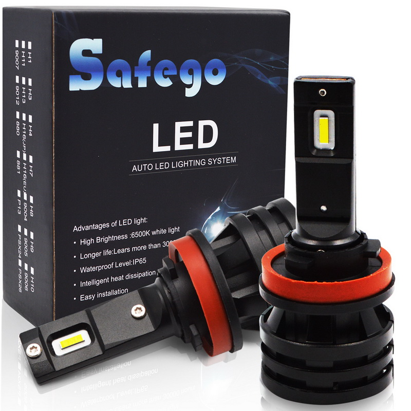 Safego 2pcs Car Headllight <font><b>H7</b></font> <font><b>LED</b></font> H4 H8 H9 H11 HiLo <font><b>LED</b></font> Bulbs <font><b>55W</b></font> 6000LM 6500K Fog Light 12V/24V Auto Headlamp <font><b>Lamps</b></font> For Cars image