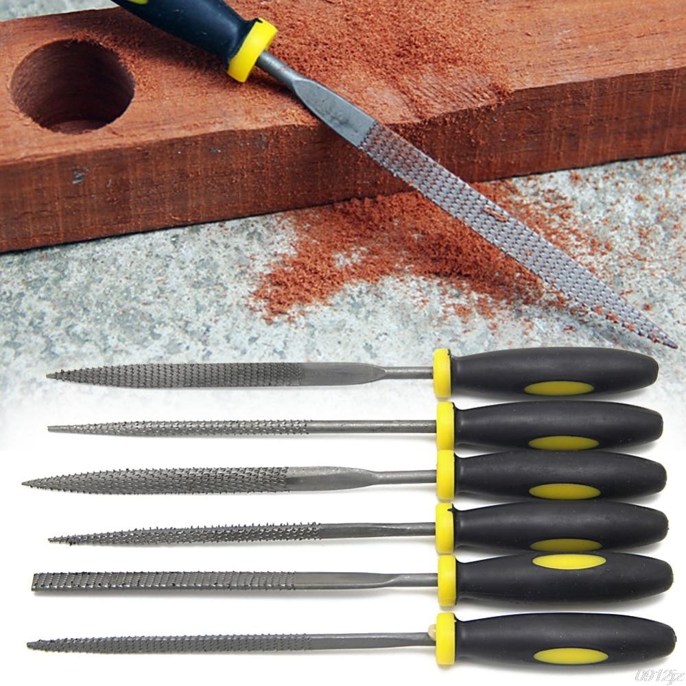 Werkzeuge 6 Pcs 140mm Mini Metall Einreichung Raspel Nadel Datei Holz Werkzeuge Hand Holzbearbeitung Dateien Werkzeug Neue Drop Schiff Handwerkzeuge