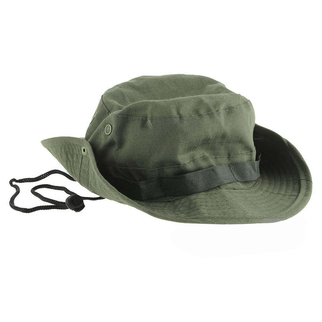 Wide Brim Bucket Hat Hiking Camping Sunshade Hat Army Green Traveling Fishing Bonnie Hat With Adjustable Straps Mens Sports Caps