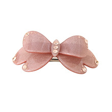 Hot Selling Hair Accessories Butterfly Acetate Plank with Auden Rhinestone Hair Jewelry for Women Hair Clip gifts free shipping