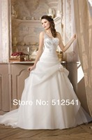 New Arrive robe de mariee 2018 Bridal gown Wedding Dresses A Line One Shoulder Beads Sequin Organza Ruffle Flowers Sweep Train