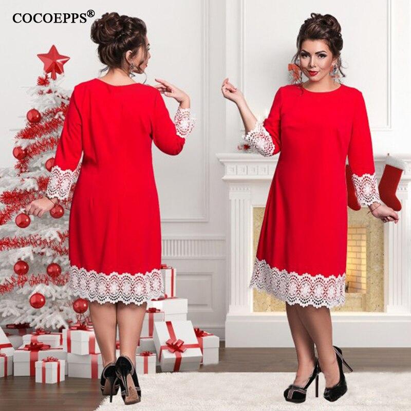2019 Plus Size ქალის კაბა 5XL 6XL - ქალის ტანსაცმელი - ფოტო 3