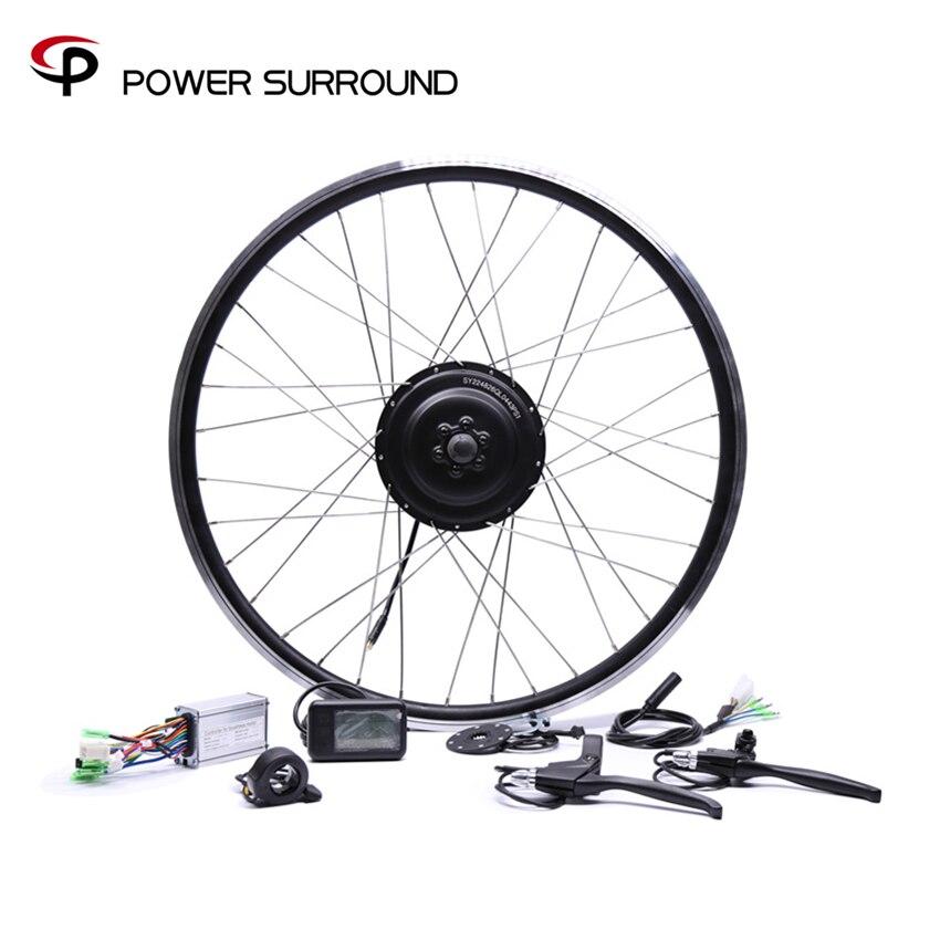 Vélo électrique Bicicleta Eletrica 36v350w avant/arrière Kit de Conversion de vélo électrique sans balais moteurs de moyeu 20 ''26'' 28''