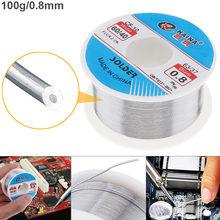 60/40 100g 0.8mm-2.0mm Tin Fine Wire Core 2% Flux Welding Solder Wire with Rosin and Low Melting Point цена 2017