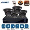 Sistema de seguridad 4ch sistema de cctv dvr kit diy annke 4x1080 p 2.0mp cámara cámara de seguridad del sistema de vigilancia