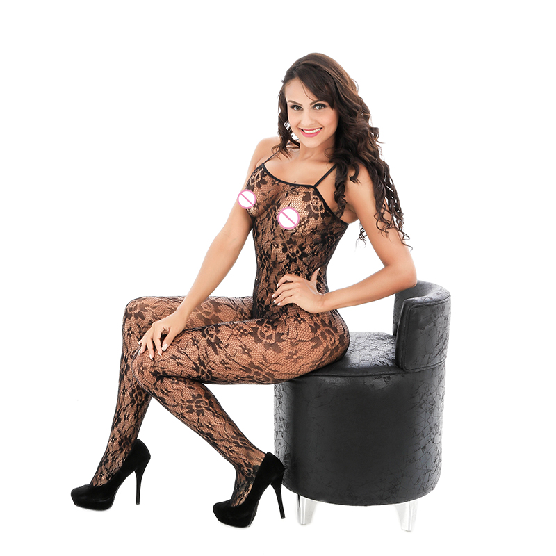 Buy Hot Sexy Black Fine Fishnet Lingerie Costumes Sling Open Crotch Erotic Underwear Bodystocking Body Suit Sexy Sleepwear Hot Sell
