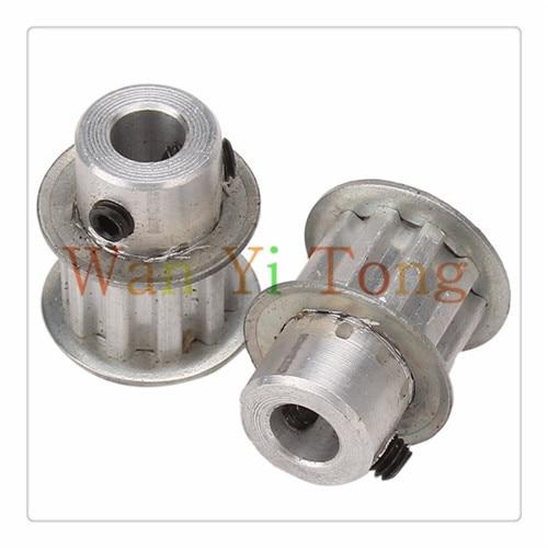 2Pcs XL Type Aluminum Timing Belt Pulley 10 Teeth 6.35mm Bore M4 Top Screws sesibibi 2pcs цвет случайный xl