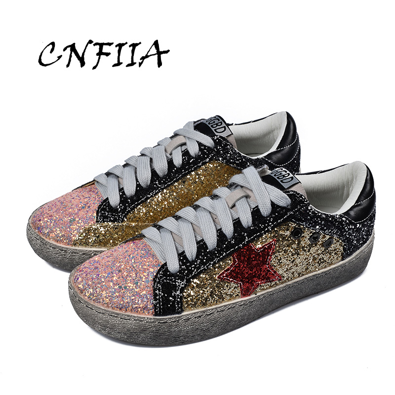 Sneakers Mode Taille Shoes Designer Femmes Shoes Cnfiia Golden red Dames Up Chaussures 39 Casual Skate Marque 2018 Dentelle Nouvelles Appartements Automne pwEYwXqOR