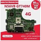for ASUS N56VB n56v Laptop Motherboard REV2.0 Mainboard GT740 4G PGA 989 HM76 Fit N56VM N56VJ N56VZ N56VB main board 100% tested