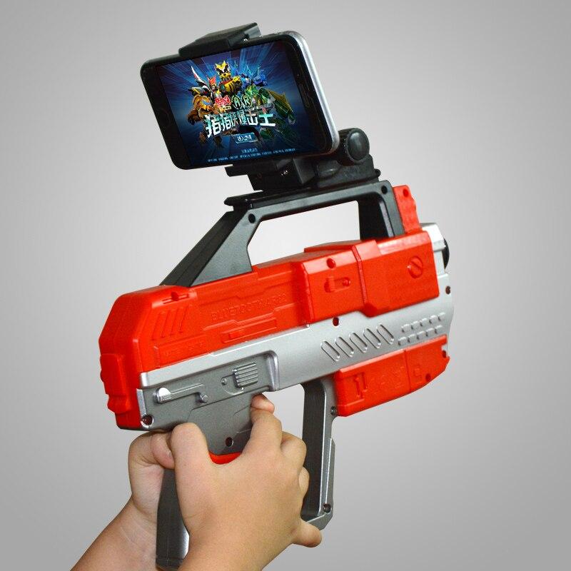 4D AR пистолет с телефона, подставка-держатель Беспроводной <font><b>Bluetooth</b></font> 4.2 DIY AR пистолет Игрушечные лошадки <font><b>VR</b></font> игры для iPhone Android-смартфон игры Пистолет