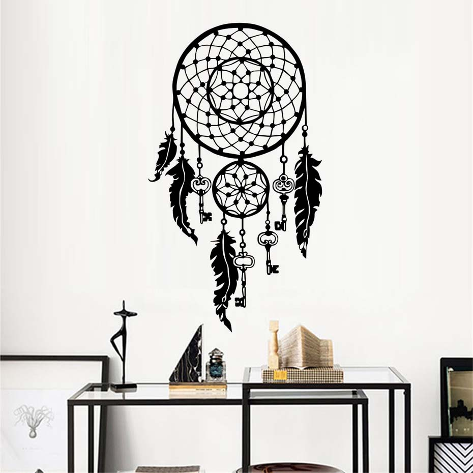 Aliexpresscom Buy Art Design Dream Catcher Vinyl Wall Sticker - Vinyl stickers designaliexpresscombuy eyes new design vinyl wall stickers eye wall