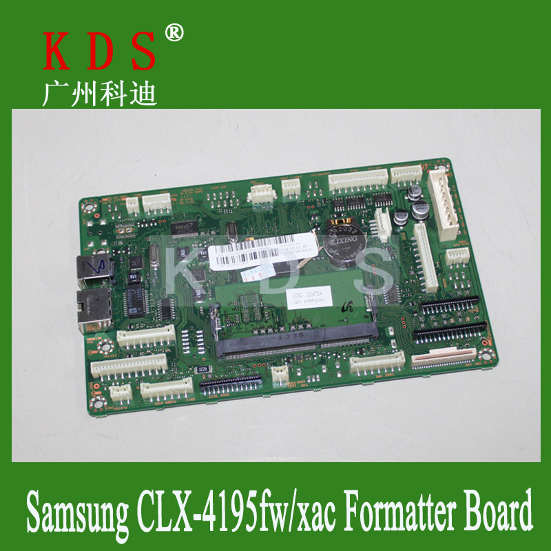 5pcs/lot Free Shipping Formatter Board CLX-4195FW/XAC CLX 4195 FW/XAC Logic Board JC9202529A