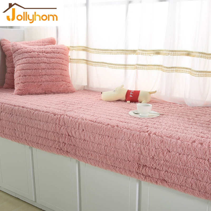 Pink Color Comfortable Bay Window Pad Warm Balcony Mat Soft Thicken Sofa  Cover Living Room Bedroom