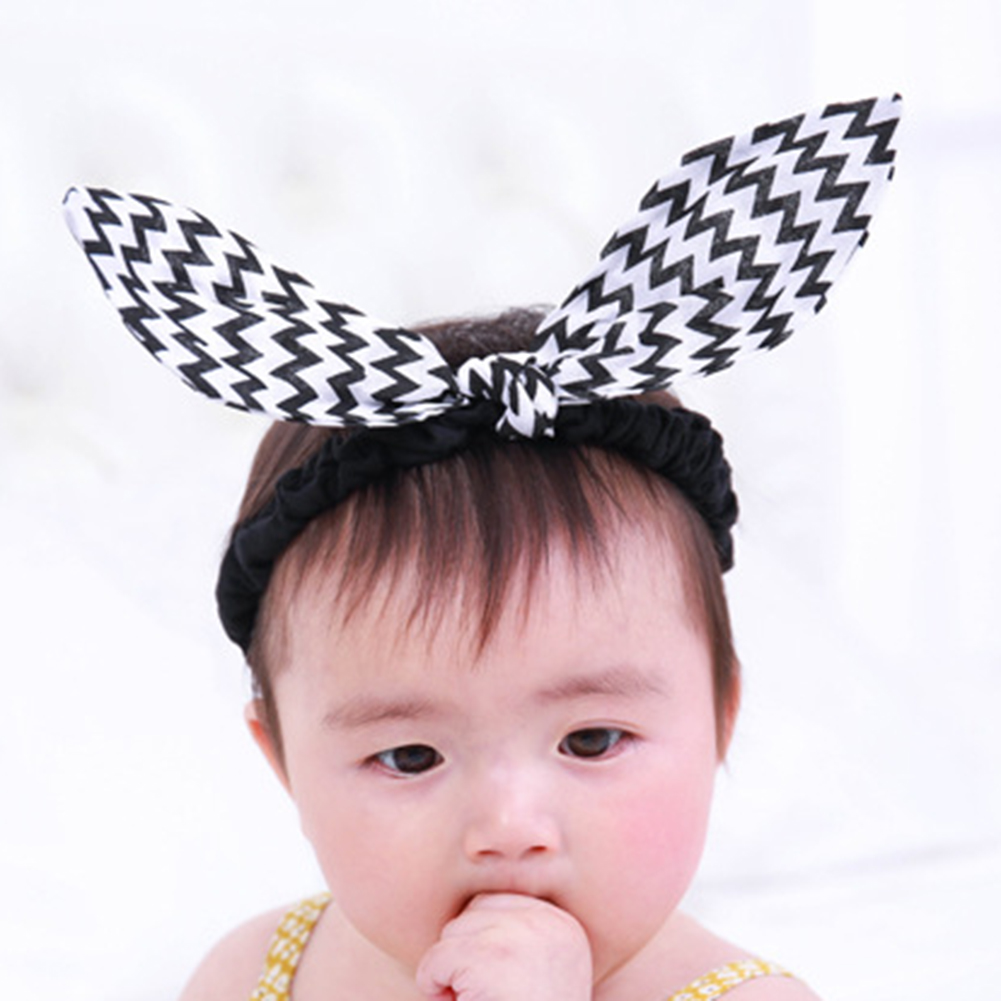 Black White Bunny Ears Baby Kids Girl Children Headband Kids Hair Accessories