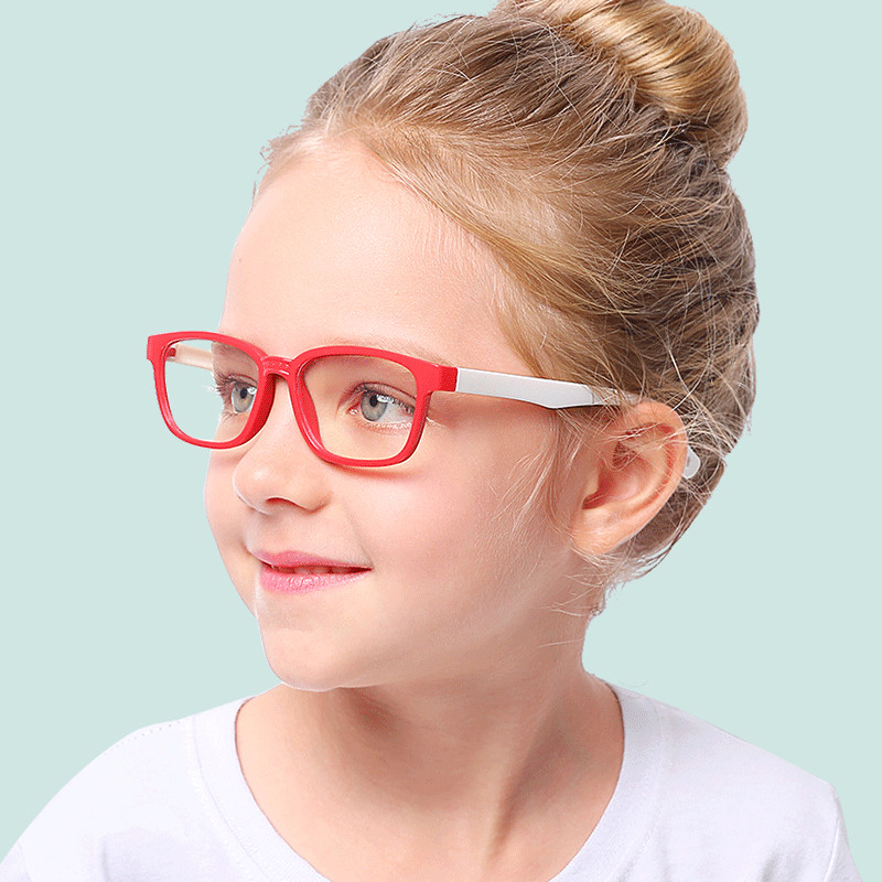 VKUES Kids Blue Light Glasses Boys Girls Computer Tough Frame Anti Blocking Screen Radiation Clear Goggles