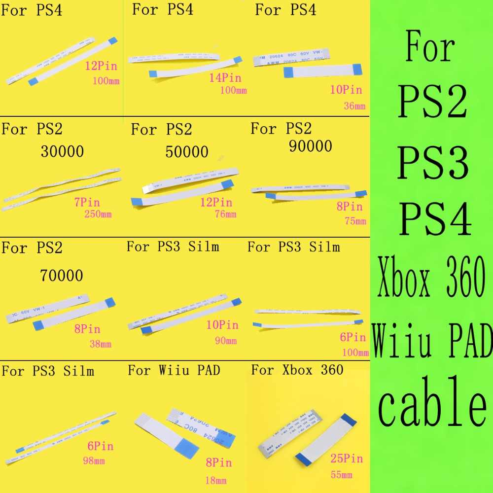 1 قطعة الكابلات المرنة ل PS2 ل PS4/PS3 ضئيلة Wiiu سادة 30000 50000 77000 79000 90000 7000x75000 77000 إعادة السلطة التبديل Ribbo