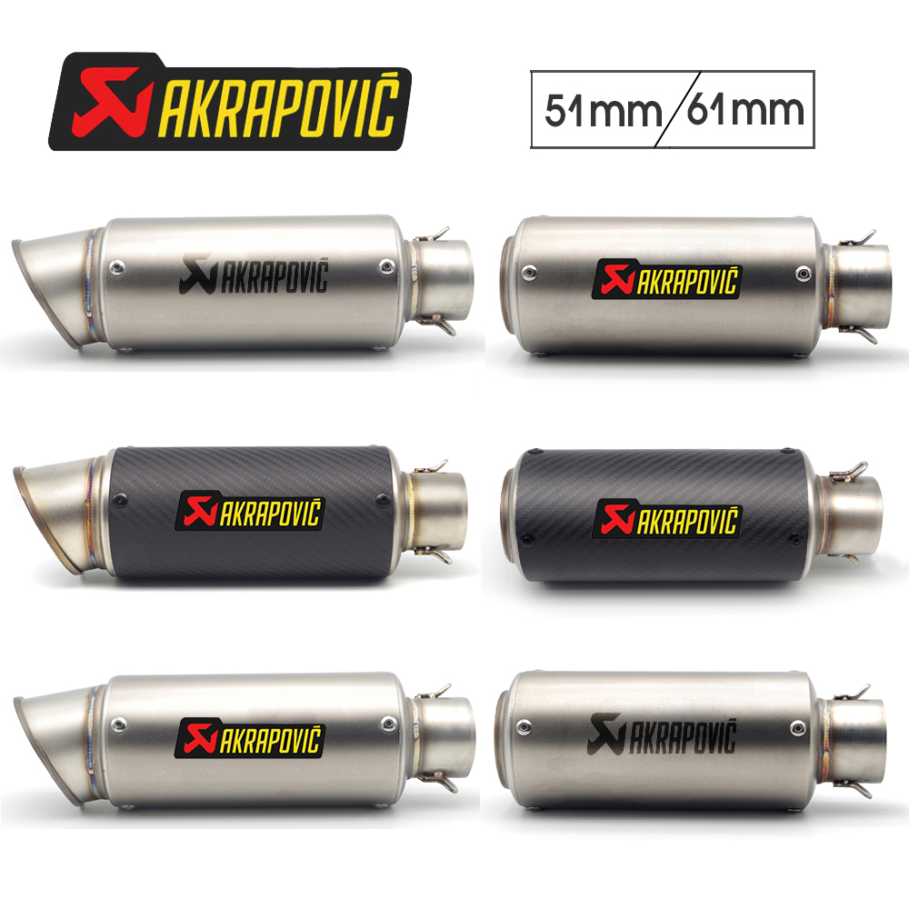 Akrapovic Exhaust Motorcycle Db Killer 51/61mm For Aprilia Pegaso 650 Ducati Monster 696 Bmw Motorrad Honda Moto Yamaha Xjr 1300