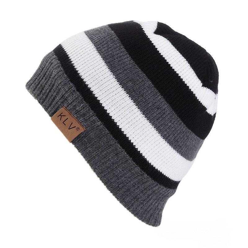New arrival Outdoor Ski Sports striped Beanie Gorras  Bonnet Beanies Knitted Winter Caps Skullies Winter Hats For Women